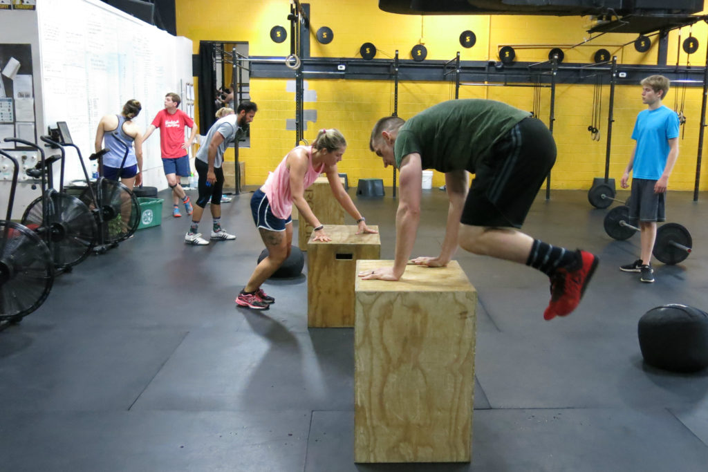 Tim burpee over box