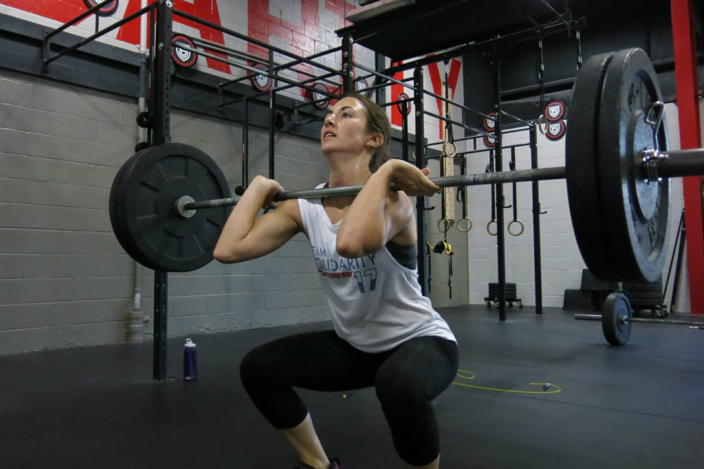 mary front squat